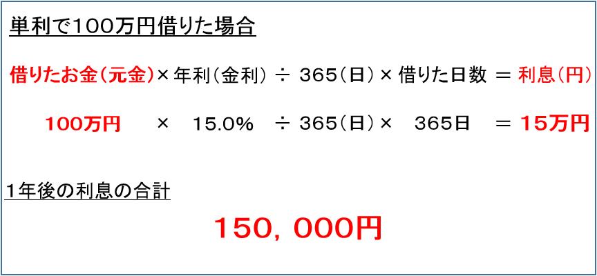 単利計算 実例