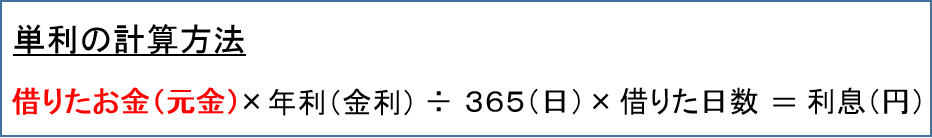 単利の計算方法