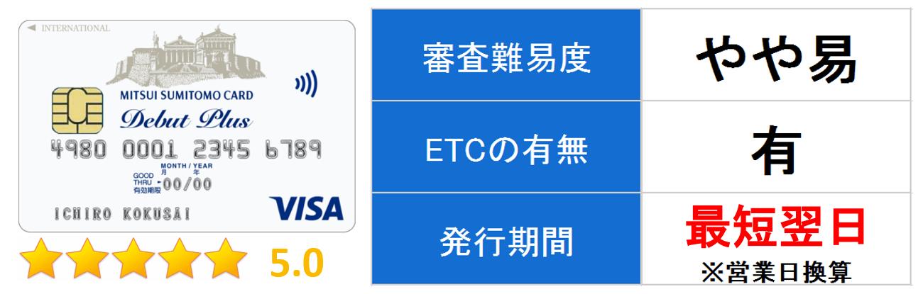 三井住友VISAデビュープラスカード キャプチャ