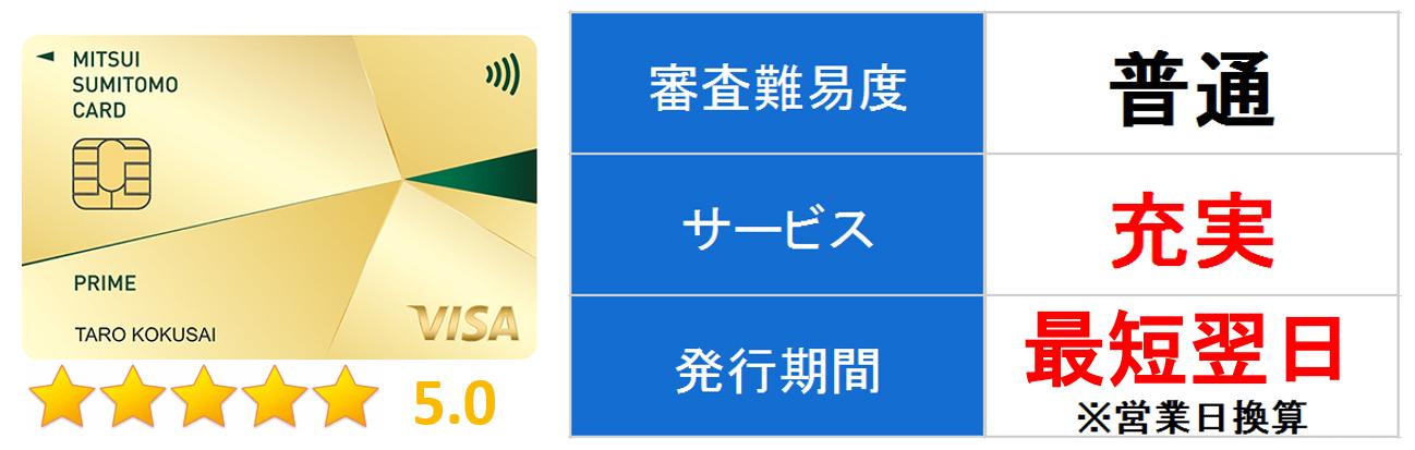 三井住友VISAプライムゴールドカード メイン