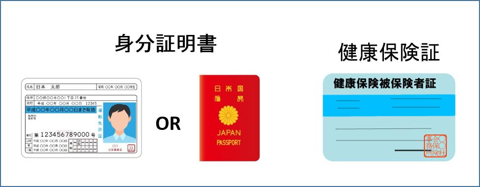 身分証明書と健康保険証
