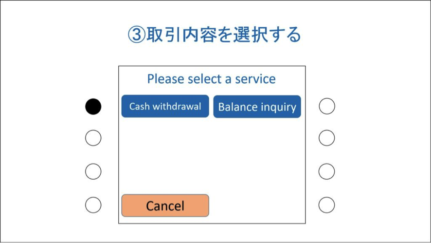 「Cash withdrawal」