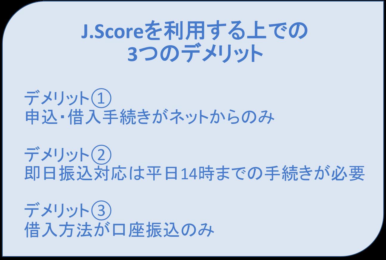 J.Scoreの3つのデメリット