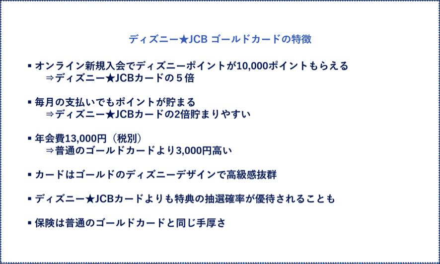 ディズニー★JCB ゴールドカードの特徴