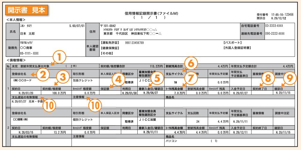 ファイルMでは、⑩に事故情報が記載されます